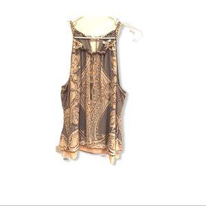 Cache sleeveless top size xl